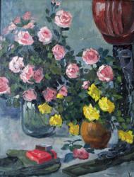 Троянди монтажницям. П/о, 70*50. 1970