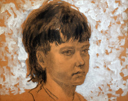 Портрет дівчини. К/темпера, 40*50. 1975р.